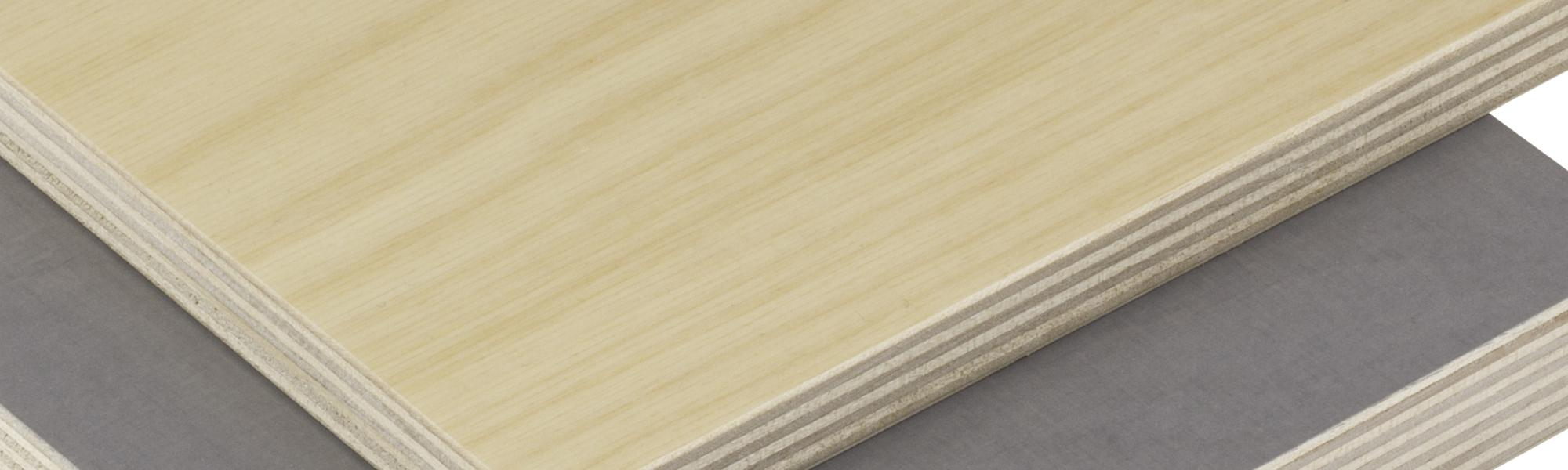 Two sheets of stacked plywood.