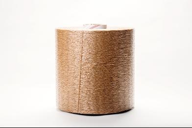 A roll of brown veneer string.