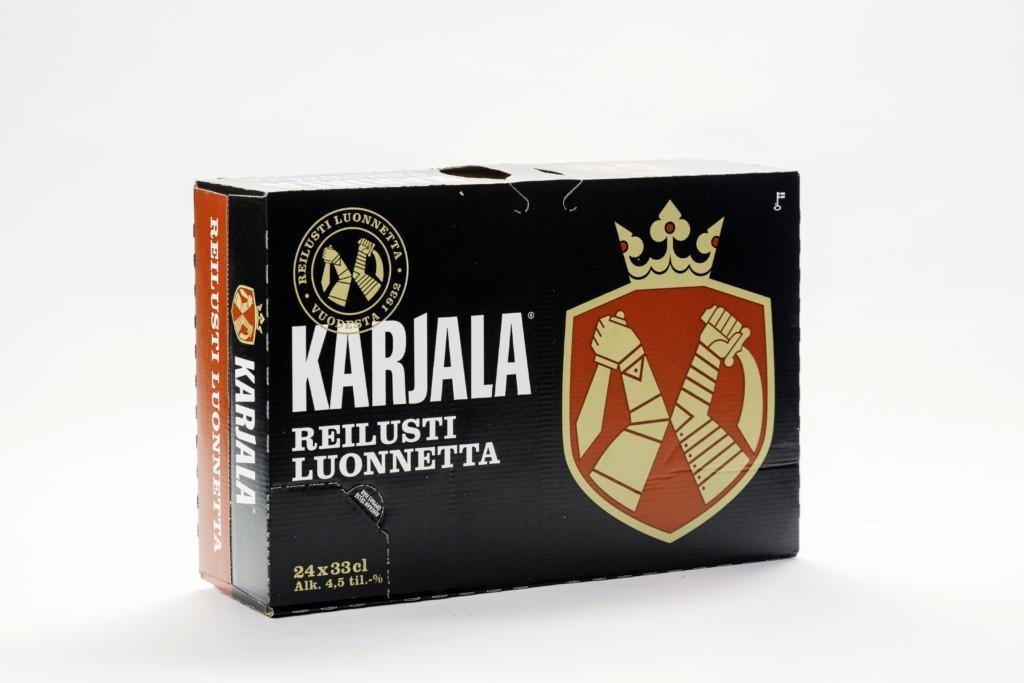 Karjala beer multipack with lemtapes reinforcement
